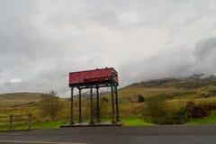 Πύργος νερού μηχανών ατμού, κόκκινος Στοκ Εικόνα