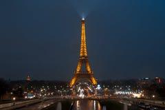 πύργος νύχτας του Άιφελ Στοκ εικόνα με δικαίωμα ελεύθερης χρήσης