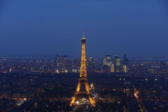 πύργος νύχτας του Άιφελ Στοκ φωτογραφίες με δικαίωμα ελεύθερης χρήσης