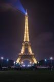πύργος νύχτας του Άιφελ Στοκ Φωτογραφίες