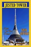 Πύργος ξενοδοχείων, αφίσα ταξιδιού, κτήριο παγκόσμιων ΤΟΠ ασυνήθιστο ξενοδοχείων Στοκ Εικόνα