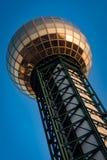 Πύργος ορόσημων Sunsphere σε Knoxville Τένεσι στοκ εικόνες