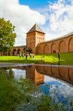 Πύργος παλατιών Novgorod Κρεμλίνο Τοπίο αρχιτεκτονικής σε Veliky Novgorod, Ρωσία Στοκ Φωτογραφίες