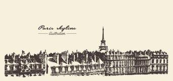 Πύργος Παρίσι, διανυσματική απεικόνιση του Άιφελ σκίτσων Στοκ φωτογραφία με δικαίωμα ελεύθερης χρήσης