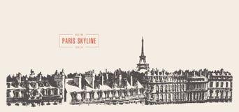 Πύργος Παρίσι, διανυσματική απεικόνιση του Άιφελ σκίτσων Στοκ εικόνες με δικαίωμα ελεύθερης χρήσης