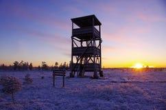 Πύργος παρατήρησης πουλιών Στοκ Φωτογραφίες