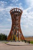 Πύργος παρατήρησης στο περιφερειακό πάρκο Meteliai, Λιθουανία στοκ φωτογραφίες