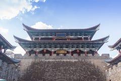 Πύργος παραδοσιακού κινέζικου στον τοίχο πόλεων Στοκ Φωτογραφίες