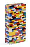 Πύργος που κατασκευάζεται των ζωηρόχρωμων τούβλων Στοκ εικόνες με δικαίωμα ελεύθερης χρήσης