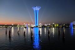 Πύργος που φωτίζεται, να εξισώσει Βοτανικό EXPO 2016 Στοκ Εικόνα