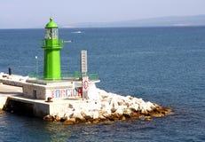 Πύργος πράσινου φωτός ΠΟΥ ΧΩΡΙΖΕΤΑΙ - Κροατία Στοκ φωτογραφία με δικαίωμα ελεύθερης χρήσης