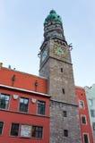 Πύργος πόλεων Innsbruck's, Αυστρία Στοκ Εικόνες