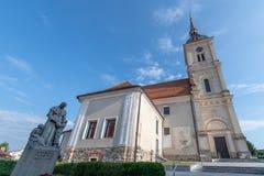 πύργος ρολογιών εκκλησιών Στοκ εικόνες με δικαίωμα ελεύθερης χρήσης