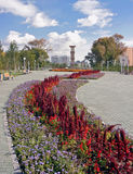 πύργος ρολογιών πόλεων astana Στοκ φωτογραφία με δικαίωμα ελεύθερης χρήσης