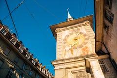 Πύργος ρολογιών στην παλαιά πόλη της Βέρνης, Ελβετία Στοκ φωτογραφία με δικαίωμα ελεύθερης χρήσης