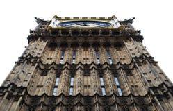Πύργος ρολογιών Big Ben, άσπρο υπόβαθρο, Λονδίνο, UK στοκ εικόνα με δικαίωμα ελεύθερης χρήσης