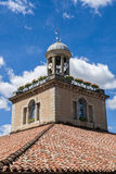 Πύργος ρολογιών αιθουσών αγοράς στο γλέντι, Γαλλία Στοκ Εικόνες