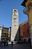 Πύργος ρολογιών σε Garda Στοκ εικόνες με δικαίωμα ελεύθερης χρήσης