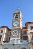 Πύργος ρολογιών σε Rimini (κοιλάδα ` Orologio Torre). Στοκ εικόνες με δικαίωμα ελεύθερης χρήσης