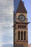 Πύργος ρολογιών στο παλαιό Δημαρχείο στο Τορόντο Στοκ φωτογραφίες με δικαίωμα ελεύθερης χρήσης