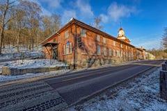 Πύργος ρολογιών στο χωριό σιδηρουργείων Fiskars Στοκ Εικόνες