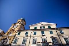 Πύργος ρολογιών στο Rijeka, Κροατία στοκ εικόνες