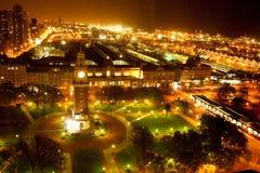 Πύργος ρολογιών τη νύχτα Στοκ Εικόνα