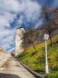 Πύργος ρολογιών του Castle Trencin στοκ φωτογραφίες