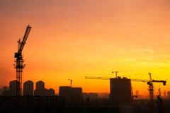 πύργος σκιαγραφιών γερανών Στοκ φωτογραφίες με δικαίωμα ελεύθερης χρήσης