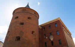 Πύργος σκονών στη Ρήγα, Λετονία Από το 1940 συμπεριλαμβανόμενος στη δομή του λετονικού πολεμικού μουσείου στοκ εικόνες με δικαίωμα ελεύθερης χρήσης
