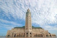 Πύργος στο μπλε ουρανό στο Χασάν ΙΙ μουσουλμανικό τέμενος Στοκ φωτογραφία με δικαίωμα ελεύθερης χρήσης