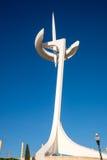 Πύργος στο ολυμπιακό πάρκο στη Βαρκελώνη Στοκ εικόνα με δικαίωμα ελεύθερης χρήσης