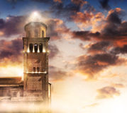 Πύργος στο φως Στοκ Εικόνες