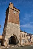 Πύργος στο χωριό μερών Villeneuve sur στη Γαλλία Στοκ φωτογραφίες με δικαίωμα ελεύθερης χρήσης