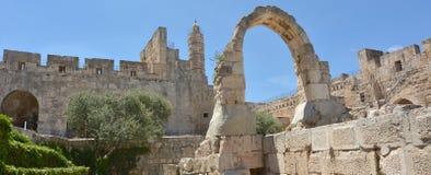 Πύργος της ακρόπολης του Δαβίδ Ιερουσαλήμ - Ισραήλ Στοκ Εικόνα