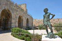 Πύργος της ακρόπολης του Δαβίδ Ιερουσαλήμ - Ισραήλ Στοκ εικόνες με δικαίωμα ελεύθερης χρήσης