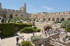Πύργος της ακρόπολης του Δαβίδ Ιερουσαλήμ - Ισραήλ Στοκ εικόνα με δικαίωμα ελεύθερης χρήσης