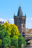 Πύργος της γέφυρας του Charles στην Πράγα Στοκ φωτογραφίες με δικαίωμα ελεύθερης χρήσης