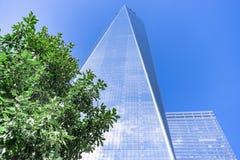 Πύργος της Ελευθερίας, ένα World Trade Center, πόλη της Νέας Υόρκης, ΗΠΑ Στοκ φωτογραφία με δικαίωμα ελεύθερης χρήσης