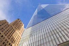 Πύργος της Ελευθερίας του World Trade Center στην πόλη της Νέας Υόρκης Στοκ φωτογραφία με δικαίωμα ελεύθερης χρήσης