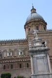 πύργος της Ιταλίας Παλέρμο Σικελία ρολογιών καθεδρικών ναών Στοκ εικόνες με δικαίωμα ελεύθερης χρήσης