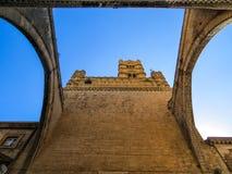πύργος της Ιταλίας Παλέρμο Σικελία ρολογιών καθεδρικών ναών Στοκ Εικόνα