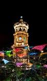 Πύργος της κυρίας μας εκκλησίας του Guadalupe τη νύχτα - Puerto Vallarta, Jalisco, Μεξικό Στοκ φωτογραφία με δικαίωμα ελεύθερης χρήσης