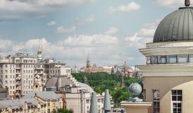 Πύργος της Μόσχας Κρεμλίνο από μια ασυνήθιστη γωνία Στοκ Εικόνα
