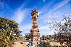 Πύργος της νίκης Vijay Stambha στο οχυρό Chittor Chittorgarh στοκ φωτογραφίες