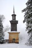 Πύργος της παλαιάς μάγισσας στο χιόνι - κτήμα Arkhangelskoye Στοκ Εικόνα