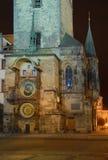 πύργος της Πράγας ρολογ&iota Στοκ Φωτογραφίες