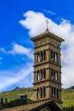 Πύργος της Ρωμαιοκαθολικής εκκλησίας ST Charles στο ST moritz-κακό Στοκ Εικόνες