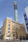 Πύργος της BT (πύργος ταχυδρομείου aka, πύργος τηλεπικοινωνιών) Στοκ Εικόνες