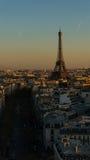 Πύργος του Άιφελ στο εναέριο ηλιοβασίλεμα του Παρισιού στη Γαλλία Στοκ Εικόνα